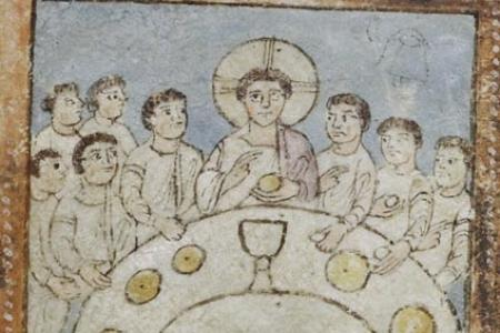 The Last Supper from the Saint Augustine Gospels